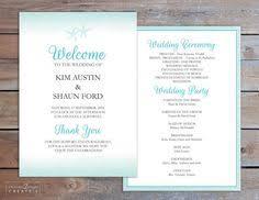 Beach Wedding Program Templates Seashells Beach Wedding Fan Microsoft Word By Paintthedaydesigns