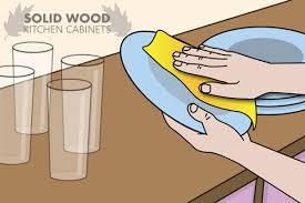 How To Clean Wood Kitchen Cabinets by How To Clean Solid Oak Kitchen Cabinets Solid Wood Kitchen