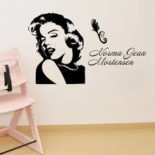 aliexpress com buy sketch marilyn monroe diy art wall