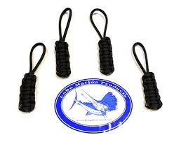 jeep metal art lobo jeep and boat enclosure paracord zipper pulls 4 u0026 10 pack