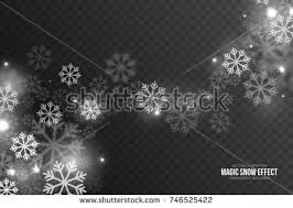 falling snow effect realistic vector snowflakes stock vector
