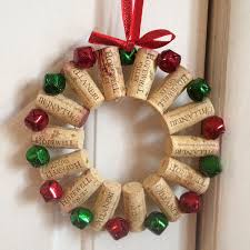home recycled home wine cork wreath blue mountain town