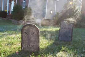 halloween headstones front yard graveyard halloween home decorating interior design