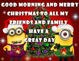 good morning merry christmas minion quote pictures photos
