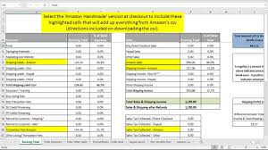 Sales And Expenses Spreadsheet Monthly Sales And Expenses Spreadsheet Summarizes Etsy U0026 Paypal