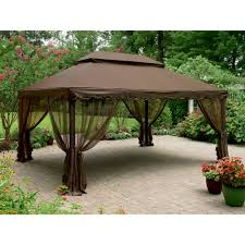 Backyard Canopy Ideas by Exterior Design Black Hardtop Gazebo With White Floor For Your