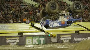 youtube monster trucks jam world first us driver lands monster truck front flip video rt