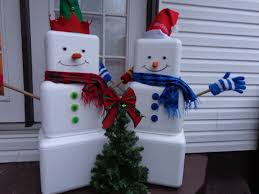 Decorative Coolers For The Patio by Styrofoam Cooler Snowmen Great Use For Styrofoam Coolers That