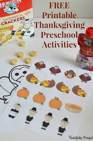 thanksgiving preschool activities and free printables
