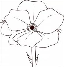 poppy coloring remembrance coloring