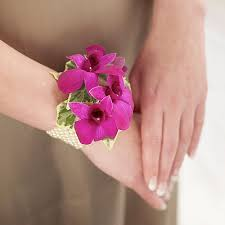 Prom Wrist Corsage Ideas 19 Prom Wrist Flower Royal Blue And Gray Wrist Corsage With