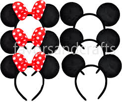 2 minnie mouse ears mickey mouse ears minnie ears
