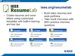 Resume Org Congratulations You U0027re An Ieee Member Ppt Download