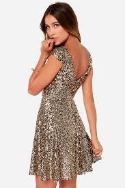 sequin dress pretty gold dress sequin dress skater dress 95 00