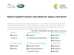 jaguar land rover logo natural capital coalition natural capital protocol case study