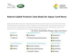 jaguar land rover logo natural capital coalition natural capital protocol case study
