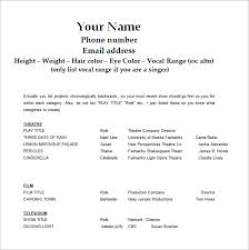 Free Word Resume Template Download Free Acting Resume Template Download Gfyork Com