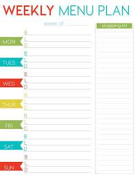 printable meal planner free free weekly menu planner printable weekly menu planners menu