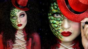 reptile ringmaster circus freak halloween makeup tutorial jordan