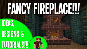 cozy fireplace design idea minecraft youtube