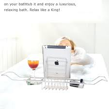 Bathtub Wine And Book Holder Stainless Steel Bath Caddy U2013 Instavite Me