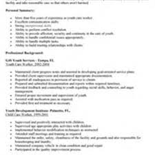 Child Care Job Resume Child Youth Care Worker Sample Resume