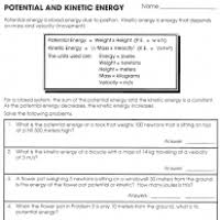 potential and kinetic energy worksheets for 3rd grade makeup