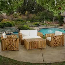 Atlanta Outdoor Furniture by 4 Piece Atlanta Patio Seating Group U0026 Reviews Joss U0026 Main