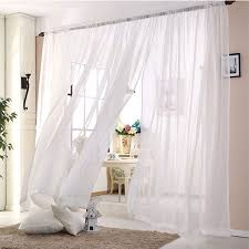White Sheer Curtains Wedding Ceiling Drapes White Sheer Curtains Window Decoration