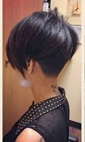 very short in back and very long in front hair very short asymmetrical hairstyles back view popular long