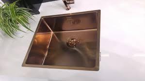 copper finish kitchen sink topmount undermount alveus monarch