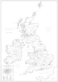 map uk and irelandmap uk counties isles counties colouring map self adhesive textile