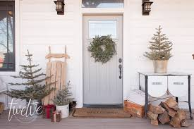 a farmhouse porch and entry twelve on