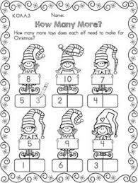 christmas kindergarten math worksheets common core aligned