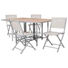 folding patio dining table bryant 5 piece sling stowable folding patio dining furniture set