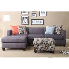 Gray Chaise Lounge Living Room Grey Chaise Sofa Charcoal Sectional Couch With