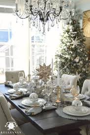 swarovski home decor beautiful silver and white christmas table decorations 82 about