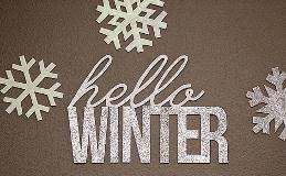 Sparkle Wall Decor Hello Winter Glittery Wall Decor