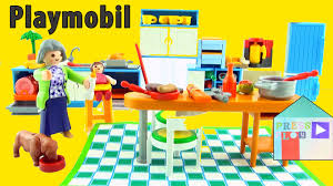 playmobil cuisine 5329 playmobil grand kitchen unboxing to furnish playmobil large grand
