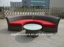 White Rattan Sofa Awesome Half Circle Outdoor Furniture Serenity 7 Piece Semicircle