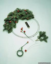 Christmas Tree Wreath Form - bell wreath martha stewart