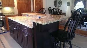 kitchen island countertop overhang kitchen island support smaller posts kitchen island overhang with