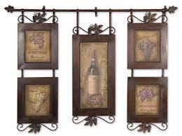 winsome tuscan fleur de lis hanging metal wall art panels wine