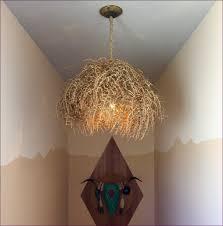living room small black chandelier rustic industrial light