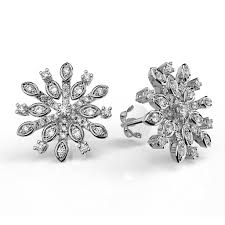 cluster stud earrings diamond snowflake cluster stud earrings karp jewellery