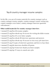 It Manager Resume Examples Top8countrymanagerresumesamples 150424214431 Conversion Gate02 Thumbnail 4 Jpg Cb U003d1429929919