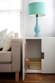 How To Set Up A Small Bathroom - 10 ideas for disguising or hiding a litter box apartment therapy