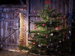 country christmas snow covered christmas tree country christmas