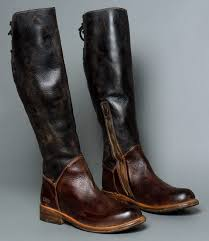 womens boots distressed leather manchester black teak knee high boot bed stu s wish