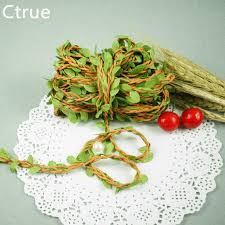 Burlap Wedding Centerpieces aliexpress com buy 2 meters natural twine string with leaf diy
